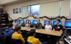 Galway Alumni visit PLTW classes