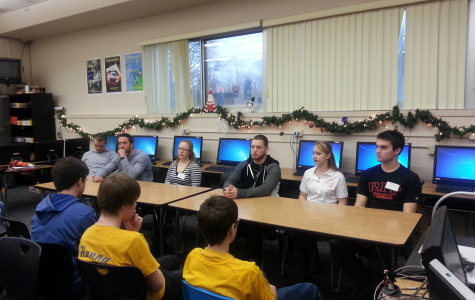 Galway Alumni visit PLTW classes