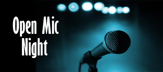 Calling all writers, storytellers, poets, comedians!  Open Mic!