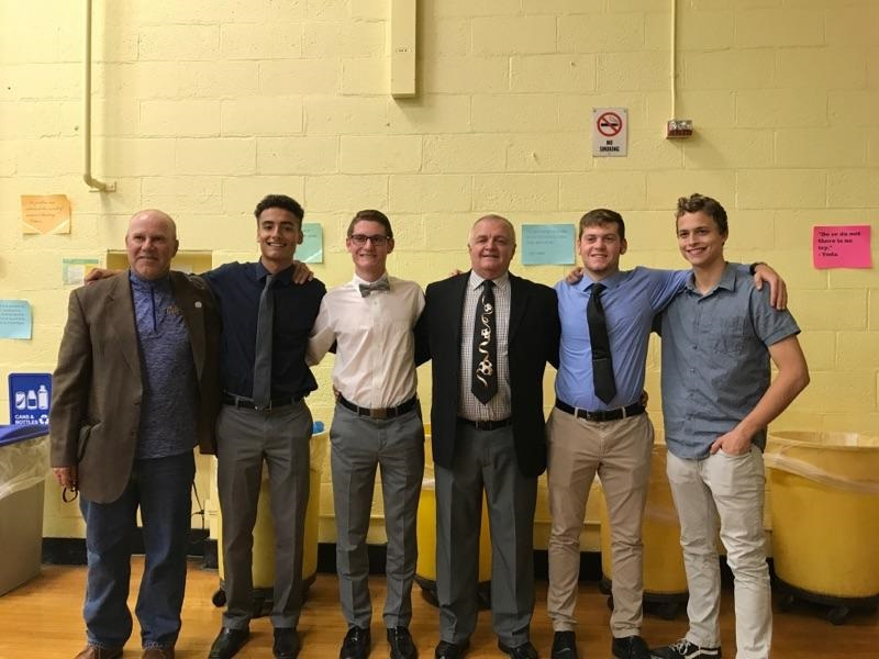 Assistant+Coach+Hartman%2C+Jake+Restivo%2C+Erik+Matthews%2C+Coach+Evans%2C+Justin+Matthews+and+Josh+Scheeren
