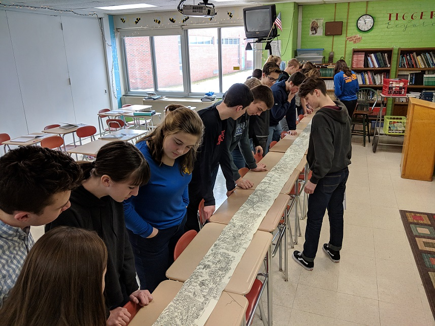 Students study World War I