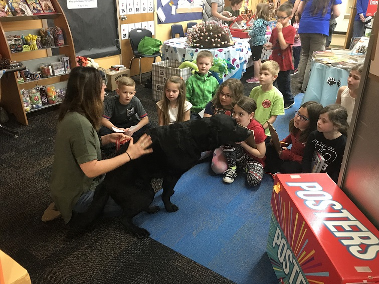 Duggan visits the Elementary Book Fair