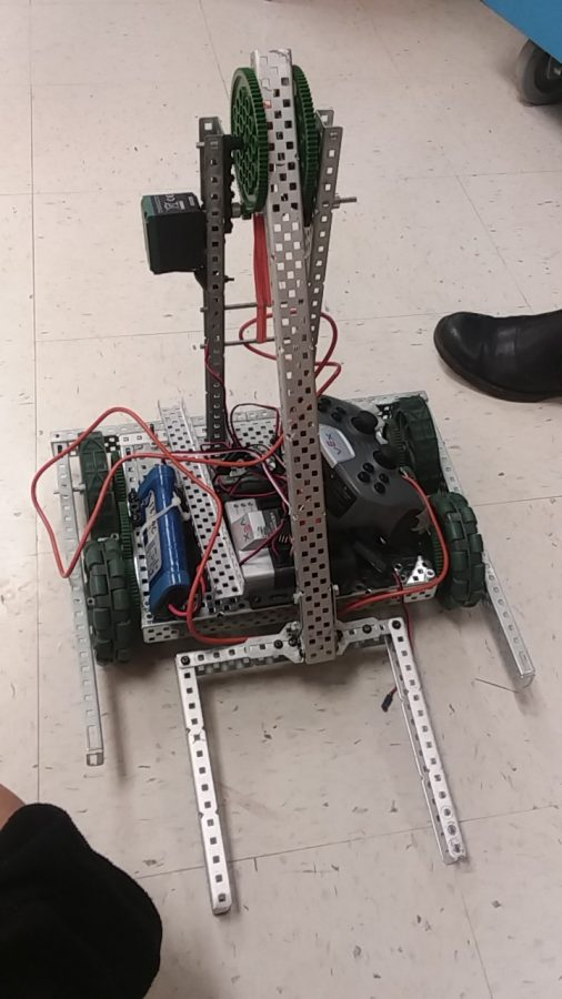 The 8th grade team's robot