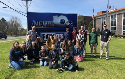 Eagles Media Center (EMC) and Galway TV (GTV) Field Trip to the News 10 Station
