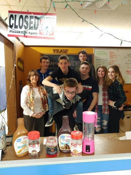 L--R: Mrs. Smith, Ryan Lovelass, Hunter Jenison, Matt Walker, Holden Decker, Lindsay Wight, Ella Underwood