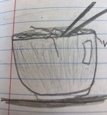 Quick sketch provided by 7th grader Kyle Schneider