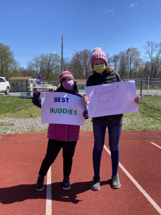 Senior, Erin Abernathy and 8th grader Addy Ross